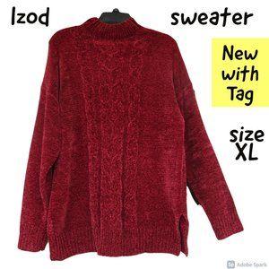 🌹$19ifbundle2 NWT IZOD chenille like sweater XL
